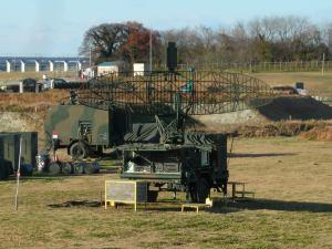 陸上自衛隊訓練所のレーダー