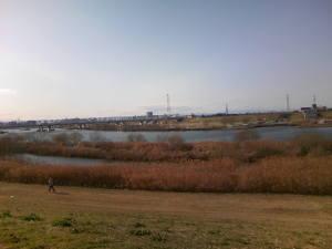寒風の江戸川CR
