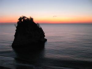 五浦海岸の朝焼け