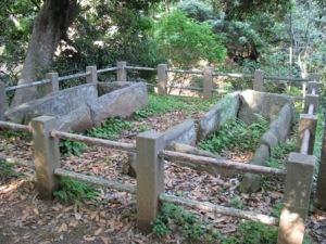 明石古墳石棺(里美公園)