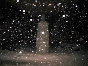 中禅寺湖畔の初雪
