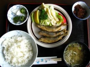 鮎唐揚定食