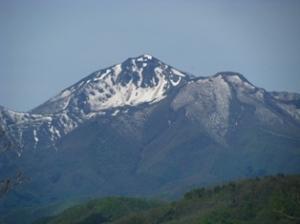 横向き磐梯山