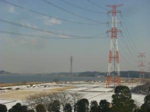 手賀沼雪景色