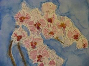 水彩胡蝶蘭