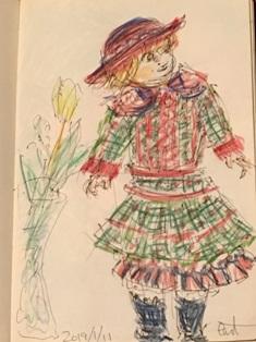 色鉛筆 人形