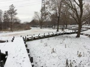 北柏ふるさと公園の雪
