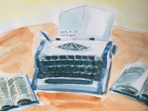 水彩 タイプライター