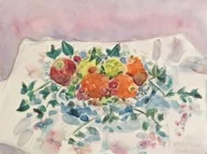 水彩 果物