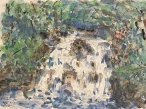 四万温泉の滝