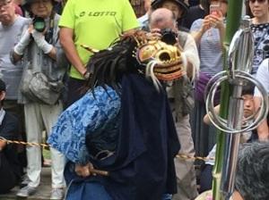 篠籠田の獅子舞