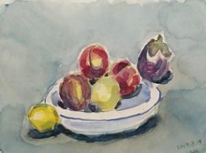 桃と茄子と檸檬